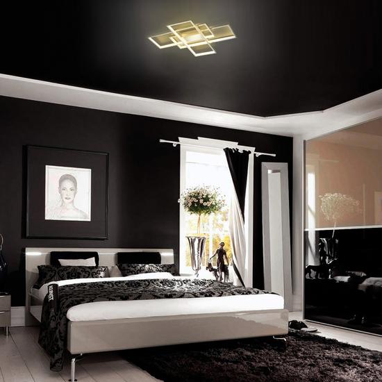 Фото №3 Потолочный светодиодный светильник 90177/3 сатин-никель