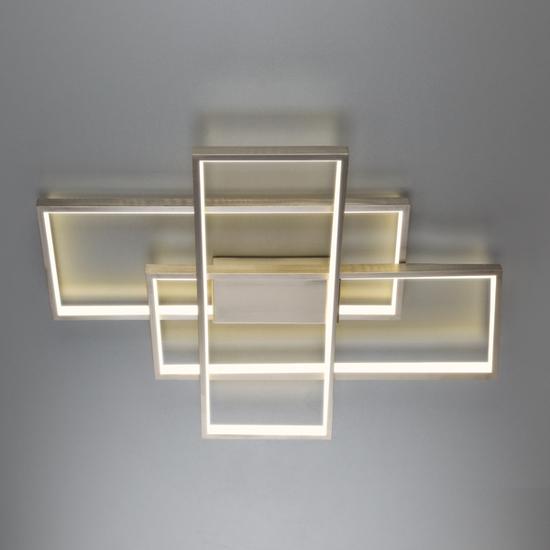 Фото №4 Потолочный светодиодный светильник 90177/3 сатин-никель