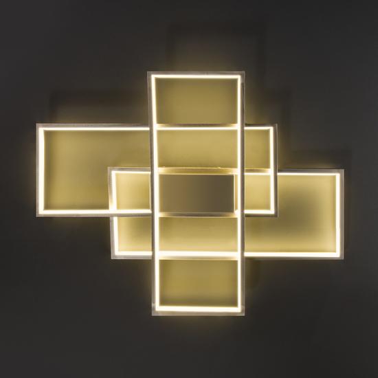 Фото №5 Потолочный светодиодный светильник 90177/3 сатин-никель