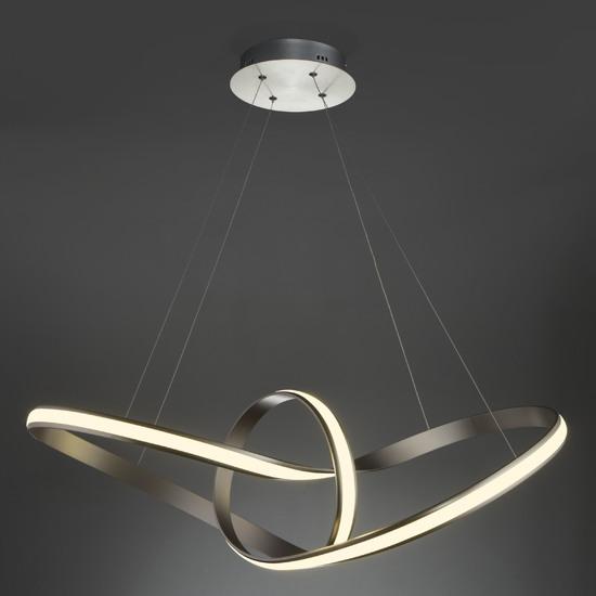 Фото №4 Подвесной светодиодный светильник 90174/1 сатин-никель