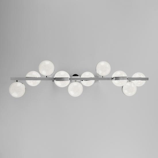 Фото №6 Подвесной светодиодный светильник с пультом управления 90173/10 хром