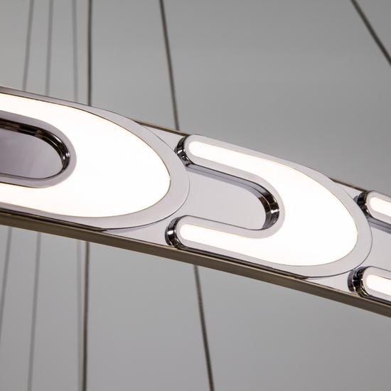Фото №6 Дизайнерский светодиодный светильник с пультом управления 90163/3 сатин-никель