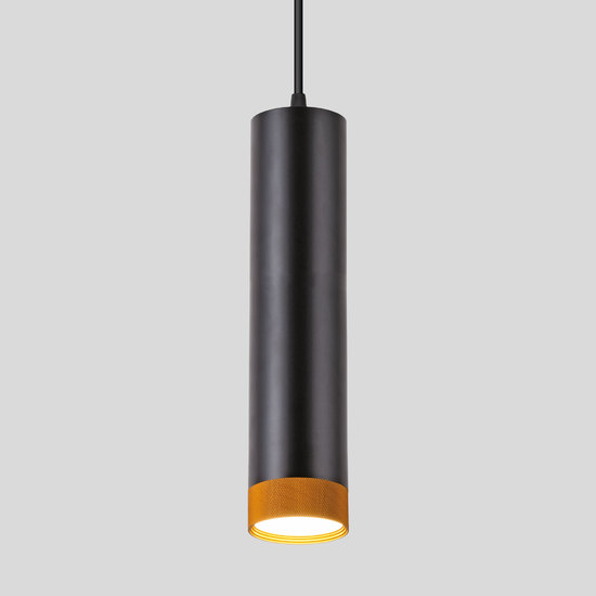 Фото №2 Подвесной светодиодный светильник 50164/1 LED черный/золото