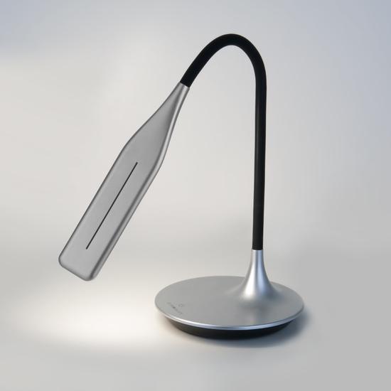 Фото №5 Светодиодная настольная лампа с сенсорным управлением 80422/1 серебристый