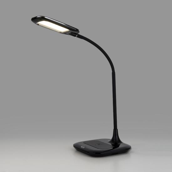 Фото №2 Светодиодная настольная лампа с беспроводной зарядкой 80419/1 черный