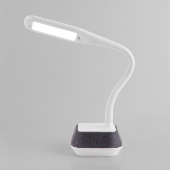 Фото №5 Светодиодная настольная лампа с динамиком 80417/1 белый