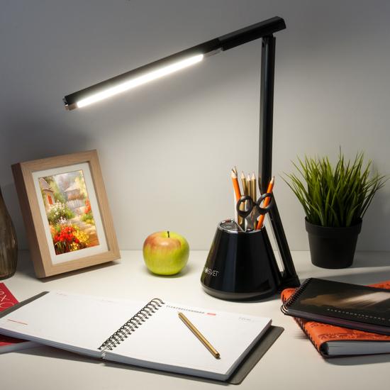 Фото №3 Светодиодная настольная лампа 80421/1 черный