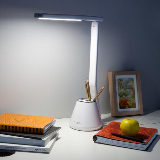 Фото №5 Светодиодная настольная лампа 80421/1 белый