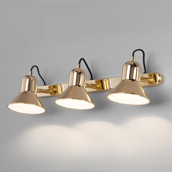 Фото №2 Настенный светильник с поворотными плафонами 20082/3 золото