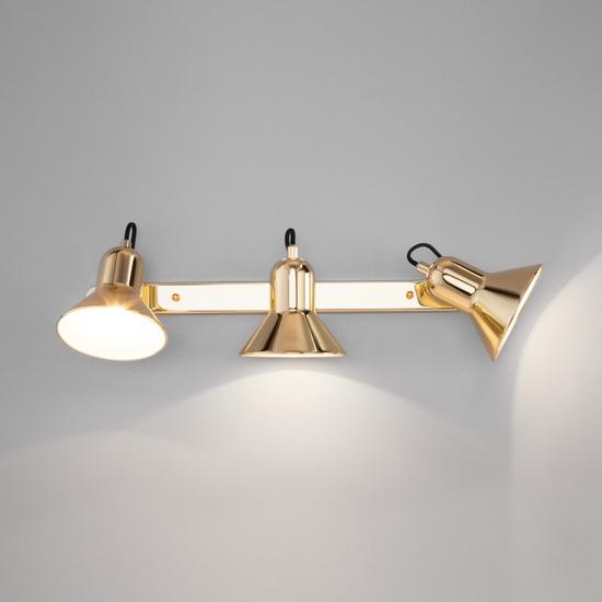 Фото №4 Настенный светильник с поворотными плафонами 20082/3 золото