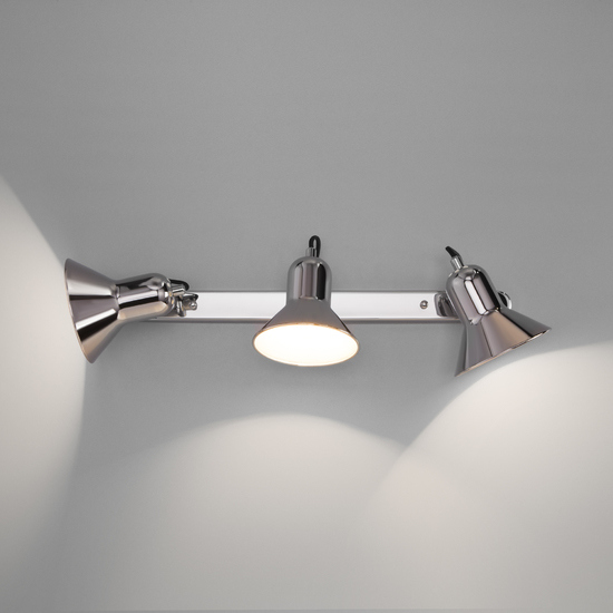 Фото №5 Настенный светильник с поворотными плафонами 20082/3 хром