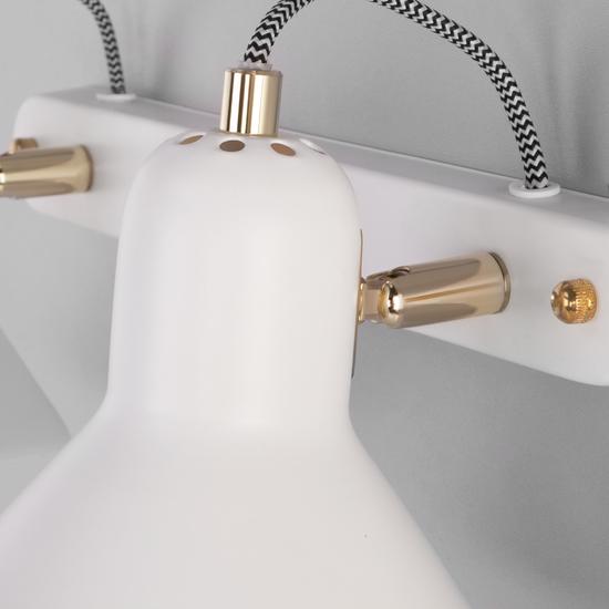 Фото №5 Настенный светильник с поворотными плафонами 20083/2 белый/золото