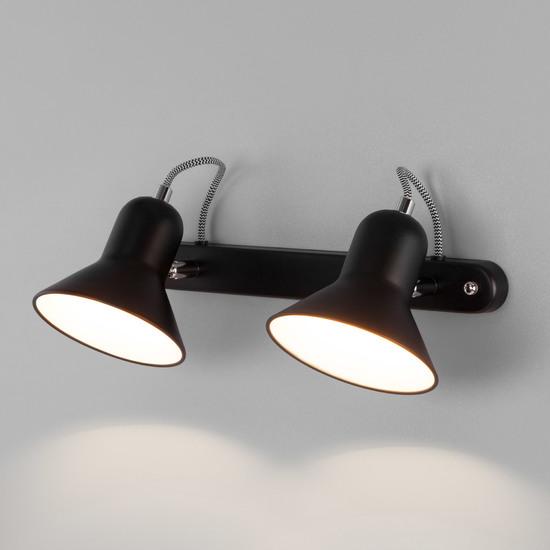 Фото №2 Настенный светильник с поворотными плафонами 20083/2 черный/хром