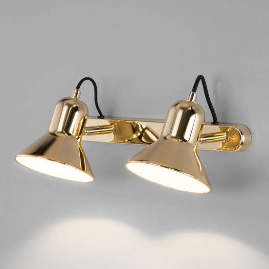 Фото №2 Настенный светильник с поворотными плафонами 20082/2 золото