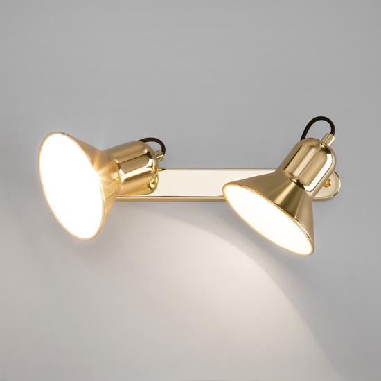 Фото №3 Настенный светильник с поворотными плафонами 20082/2 золото