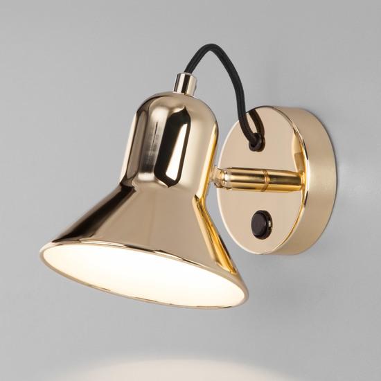 Фото №2 Настенный светильник с выключателем 20082/1 золото