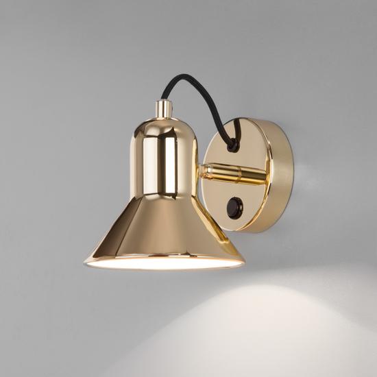 Фото №3 Настенный светильник с выключателем 20082/1 золото