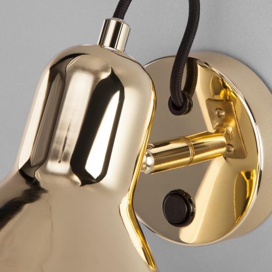 Фото №4 Настенный светильник с выключателем 20082/1 золото