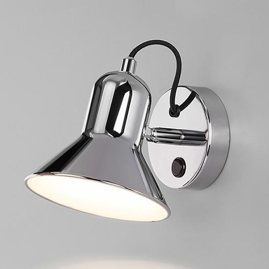 Фото №2 Настенный светильник с выключателем 20082/1 хром