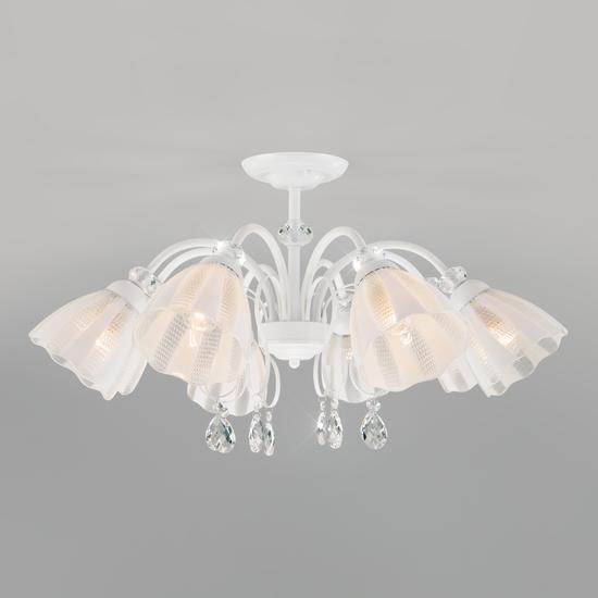 Фото №2 Потолочная люстра со стеклянными плафонами 30155/8 белый