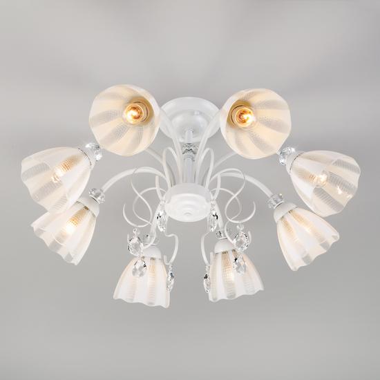 Фото №5 Потолочная люстра со стеклянными плафонами 30155/8 белый