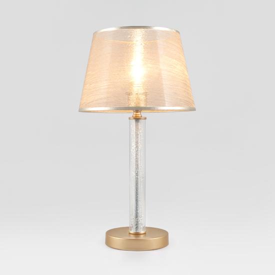 Фото №2 Настольная лампа с абажуром 01075/1 перламутровое золото