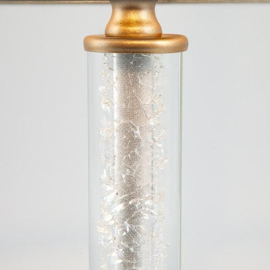 Фото №4 Настольная лампа с абажуром 01075/1 перламутровое золото