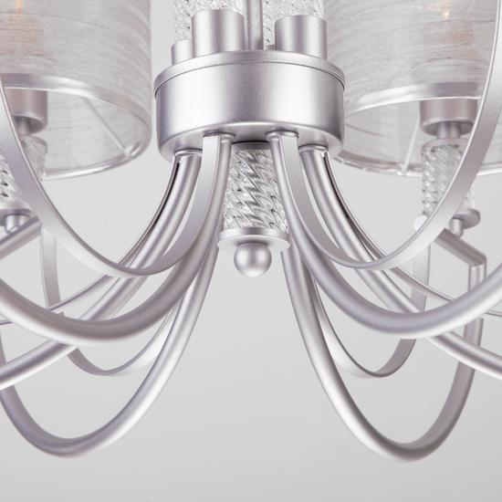 Фото №5 Классическая люстра с абажурами 60099/6 серебро