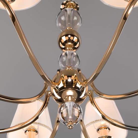 Фото №5 Классическая люстра с абажурами 60097/8 золото