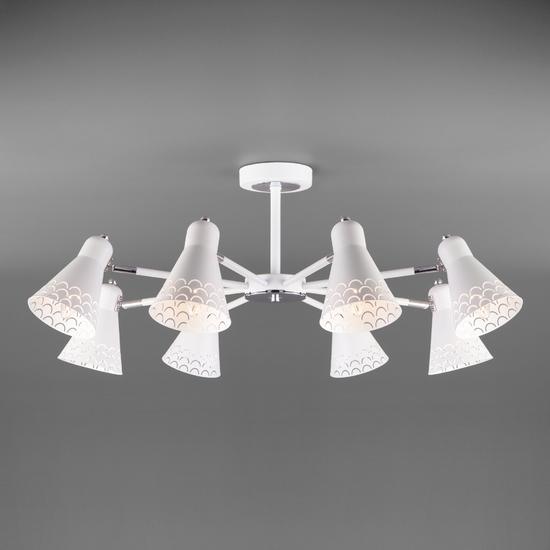 Фото №4 Потолочная люстра с поворотными плафонами 70100/8 белый