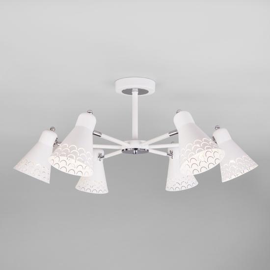 Фото №3 Потолочная люстра в стиле лофт 70100/6 белый