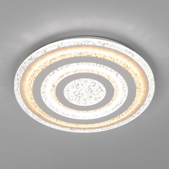 Фото №2 Светодиодный потолочный светильник с пультом управления 90161/1 белый