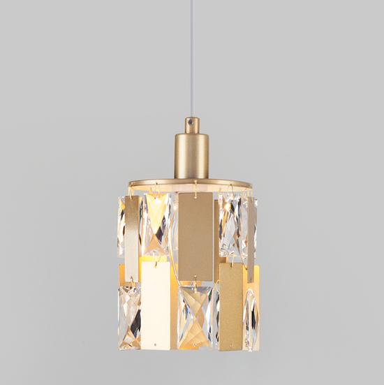 Фото №2 Подвесной светильник с хрусталем 50101/1 перламутровое золото