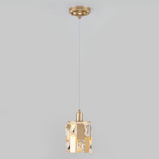 Фото №4 Подвесной светильник с хрусталем 50101/1 перламутровое золото