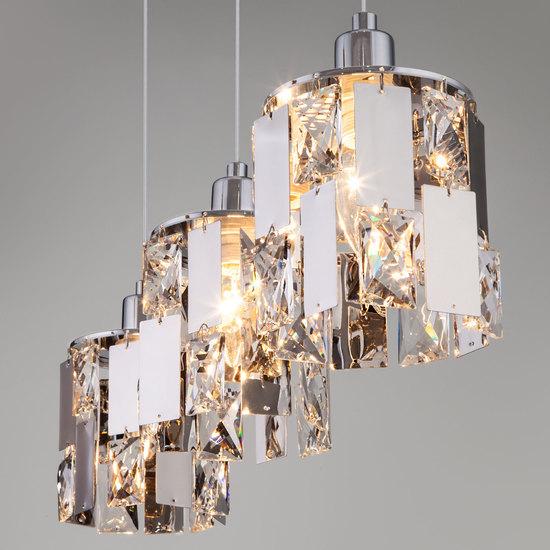 Фото №5 Подвесной светильник с хрусталем 50101/3 хром