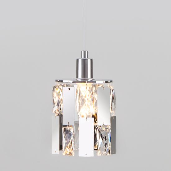 Фото №2 Подвесной светильник с хрусталем 50101/1 хром
