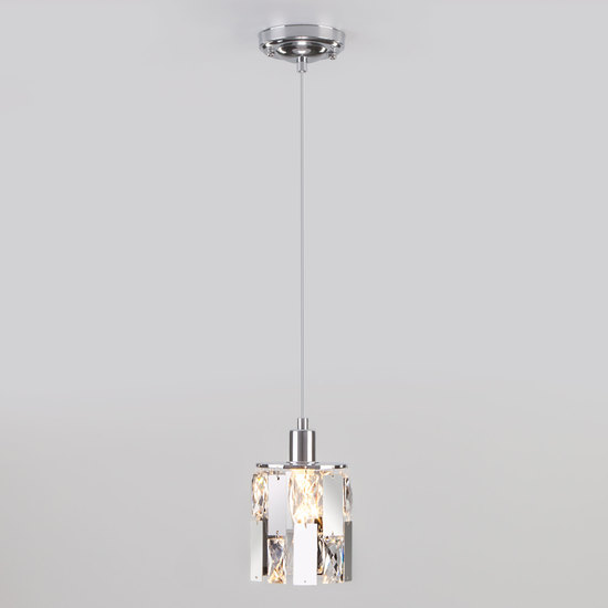 Фото №4 Подвесной светильник с хрусталем 50101/1 хром