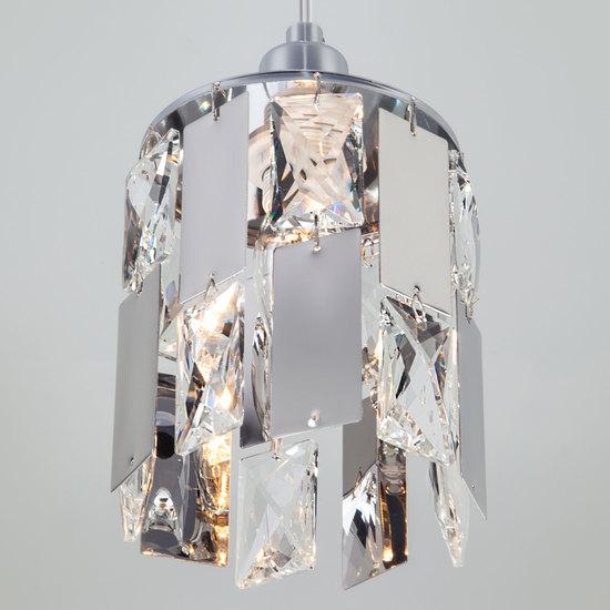 Фото №5 Подвесной светильник с хрусталем 50101/1 хром