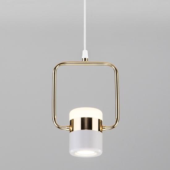 Фото №2 Подвесной светодиодный светильник с поворотным плафоном 50165/1 LED золото/белый