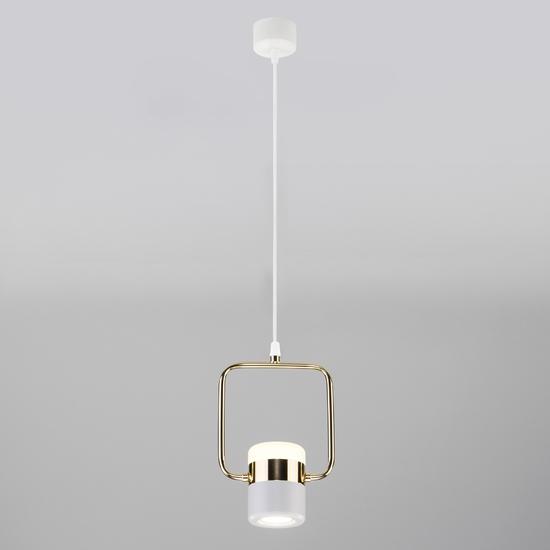 Фото №3 Подвесной светодиодный светильник с поворотным плафоном 50165/1 LED золото/белый