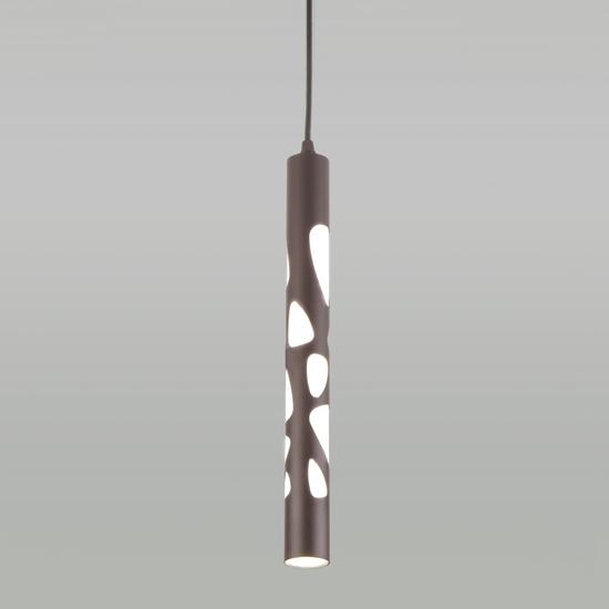 Фото №2 Подвесной светодиодный светильник DLR037 12W 4200K кофейный