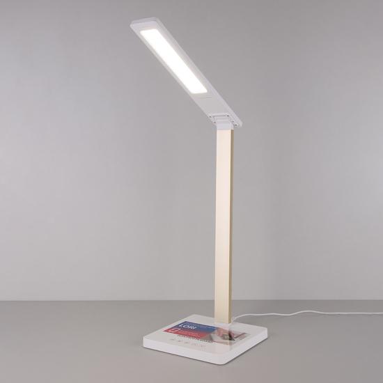 Фото №2 Настольная лампа с беспроводной зарядкой Lori белый/золотой (TL90510)