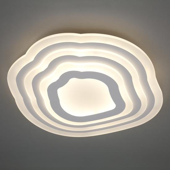 Фото №4 Потолочный светодиодный светильник с пультом управления 90119/4 белый
