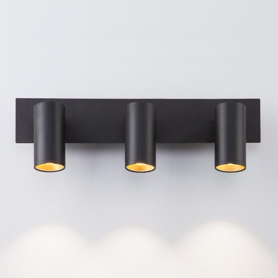 Фото №3 Светодиодный настенный светильник с поворотными плафонами 20066/3 LED черный/золото
