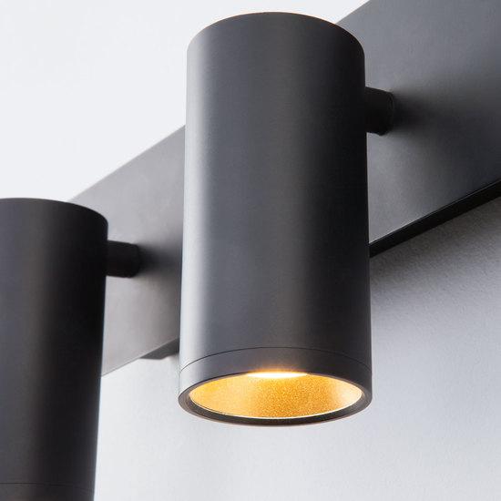 Фото №6 Светодиодный настенный светильник с поворотными плафонами 20066/3 LED черный/золото