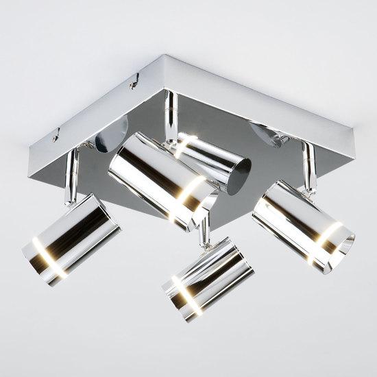 Фото №5 Потолочный светодиодный светильник с поворотными плафонами 20064/4 LED хром