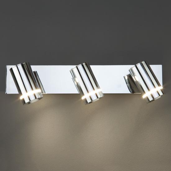 Фото №3 Настенный светильник с поворотными плафонами 20064/3 LED хром