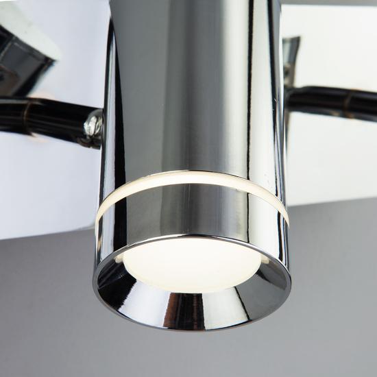 Фото №5 Настенный светильник с поворотными плафонами 20064/3 LED хром