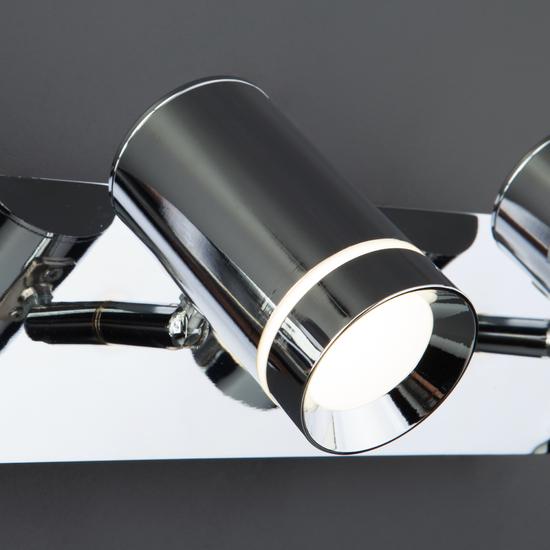 Фото №6 Настенный светильник с поворотными плафонами 20064/3 LED хром