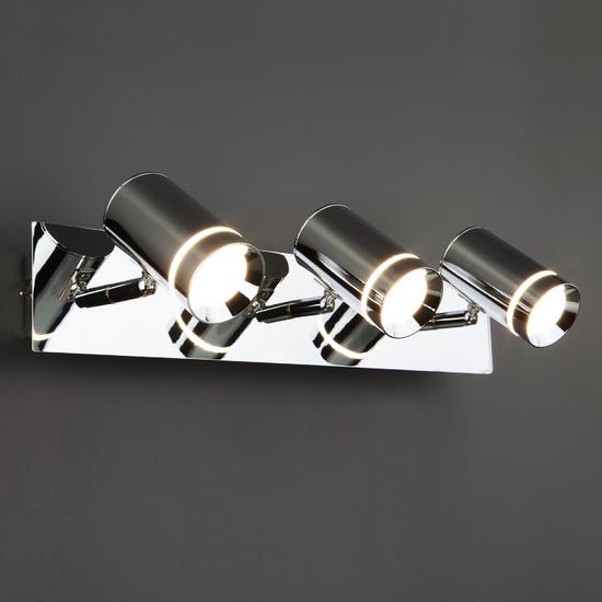 Фото №9 Настенный светильник с поворотными плафонами 20064/3 LED хром